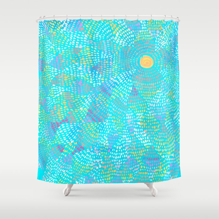 dotted sky Shower Curtain