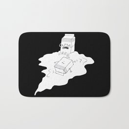 don't cry over spilt milk Bath Mat