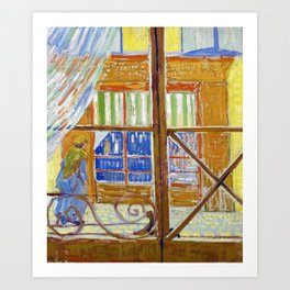Vincent van Gogh - View of a butchers shop - Digital Remastered Edition Art Print