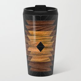 Urban Tribal Pattern 7 - Aztec - Wood Travel Mug