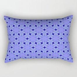 Christmas Blue Night Snowflake Pattern Rectangular Pillow