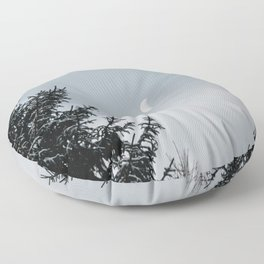 Half Moon | Nature and Landscape Photography Floor Pillow