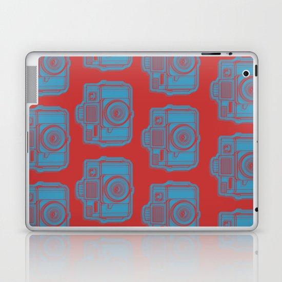 I Still Shoot Film Holga Logo - Red & Blue Laptop & iPad Skin