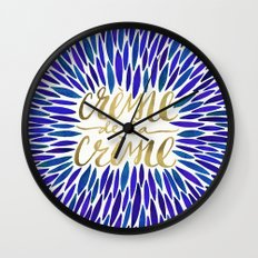 Crème de la Crème – Navy & Gold Wall Clock