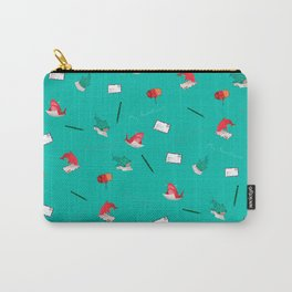 Teal Whale Shark and Shark Carry-All Pouch