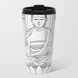 Buddha Black & White Travel Mug