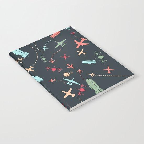 Black Airplane and Aviation Pattern by parazitgoodz