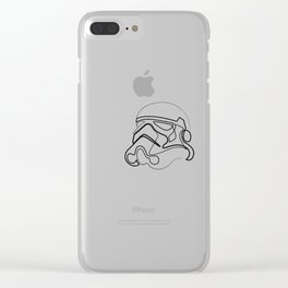 Trooper - single line art Clear iPhone Case