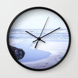 Reality a dreamy beach photo with bokeh Wall Clock