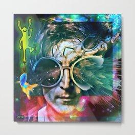 Dead and Famous: John Lennonn (The Beatle) Metal Print