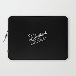 Kalsarikännt   [black & white] Laptop Sleeve