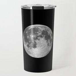 Full Moon print black-white photograph new lunar eclipse poster bedroom home wall decor Travel Mug
