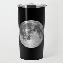 Full Moon print black-white photograph new lunar eclipse poster bedroom home wall decor Travel Mug