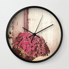 Vintage Bouquet Wall Clock