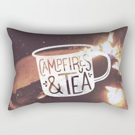 Campfires & Tea Rectangular Pillow