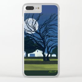 The Farm By Moonlight Clear iPhone Case