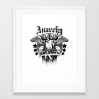 anarchy Framed Art Prints featuring Anarchy by Tshirt-Factory