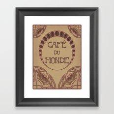 Cafe Du Monde Framed Art Print