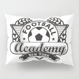 Football emblem 'Academy New York' Pillow Sham