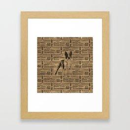 Boston Terrier dog Framed Art Print