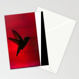 Hummingbird Behind the Red Blinds by CheyAnne Sexton Stationery Cards