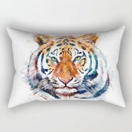 Tiger Head watercolor Rectangular Pillow
