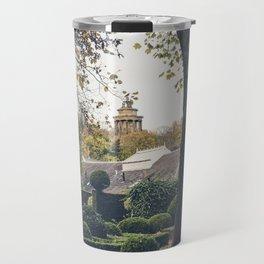 dugald Stewart monument seen from public garden Edinburgh Scotland Travel Mug