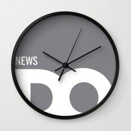 Cropped D.O. News Logo Wall Clock