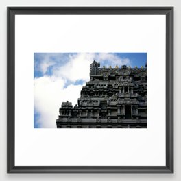 NYC Temple on Bowne St Framed Art Print