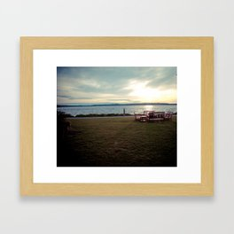 Lake Washington Shoreline Framed Art Print