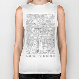 Las Vegas Map Line Biker Tank
