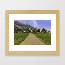 The beautiful Dolomites Framed Art Print