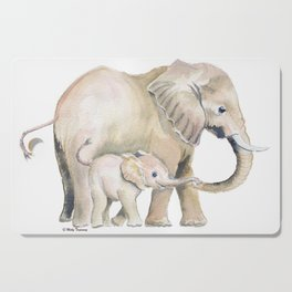 Mom and Baby Elephant 2 Cutting Board