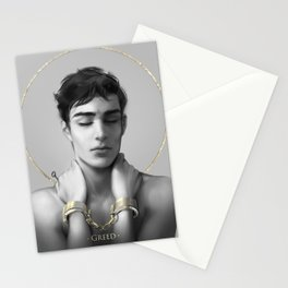 7 sins: Greed Stationery Cards