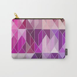 Pattern In Pink And Purple Gradient Carry-All Pouch