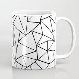 Abstract Outline Black on White Coffee Mug