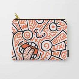 """""""The Face"""" - inspired by Keith Haring v. orange Carry-All Pouch"""