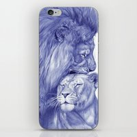 lions iPhone & iPod Skins featuring Lions by Rafael Augusto
