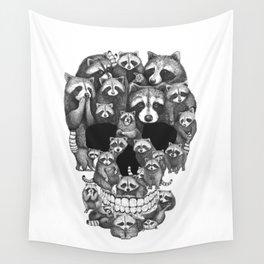 Skull from raccoons Wall Tapestry