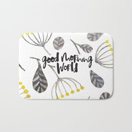 Good Morning World Bath Mat