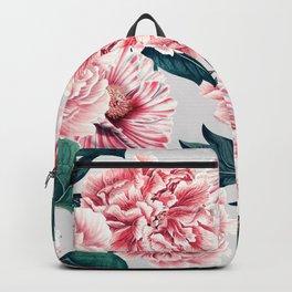 Pattern pink vintage peonies Backpack