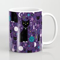kittens Mugs featuring Halloween Kittens  by Carly Watts