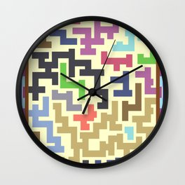 Colorful Maze IV Wall Clock