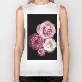 Purple, Pink, and White Roses Biker Tank