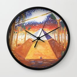 The Cydonia pyramid by the time there was life on Mars Wall Clock