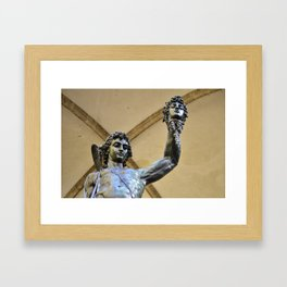 Perseus Slays MEDUSA Framed Art Print