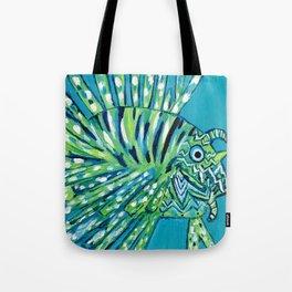 Lion Fish 1, a pretty predator Tote Bag