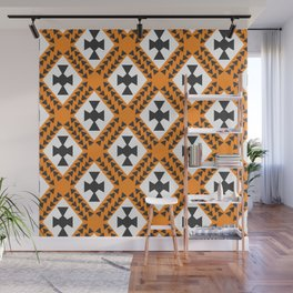 Ethnic cross pattern Wall Mural