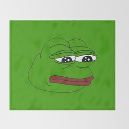 Super Rare Pepe The Frog!  Throw Blanket