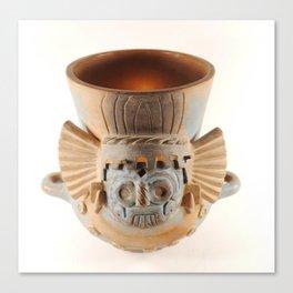 Aztec Tlaloc Pot Canvas Print